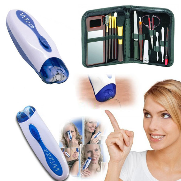 2013-New-Arrival-Wizzit-Hair-Removal-Electric-Tweezer-Remover-Trimmer-Epilator-Manicure-Set-Bag-Free-Shipping